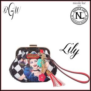 😎Adorable Nicole Lee Lily Loves To Shake Wristlet